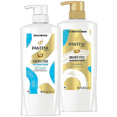 Pantene Pro-V Sulfate Free Hydration Shampoo and Conditioner with Argan Oil (38.2 fl.oz., 2pk)