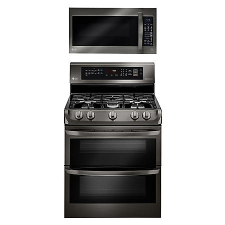 LG 2pc Cooking Bundle in Black Stainless Steel