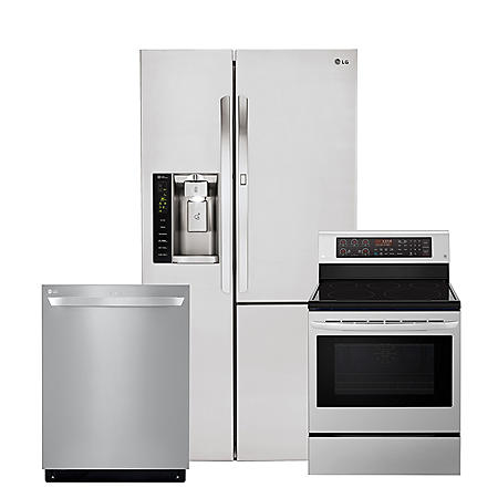 LG 3pc Kitchen Suite with Door-in-Door Refrigerator in Stainless Steel