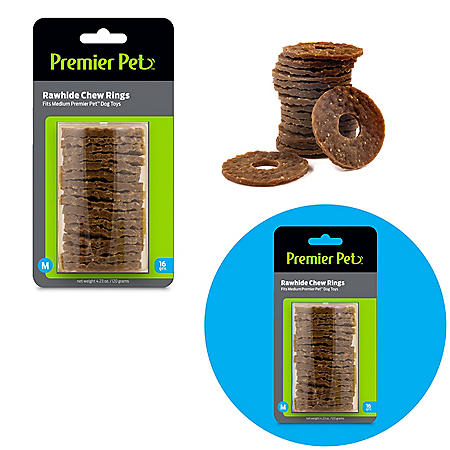 Premier Pet Rawhide Chew Ring Replacements, Medium (48 ct.)