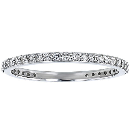 S Collection 1/3 CT. TW Diamond Eternity Band in 14K Gold