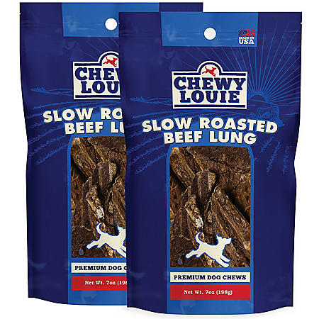 Chewy Louie Slow Roasted Beef Lung Single Ingredient Dog Chews (7 oz., 2 pk.)