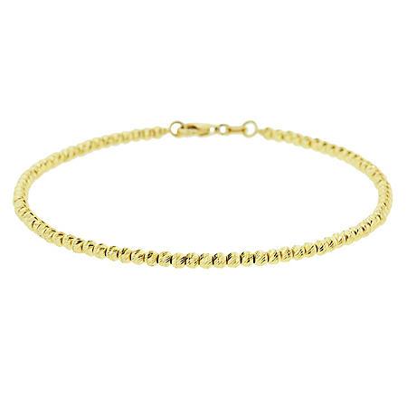 14k Gold Diamond Cut Bead Bracelet