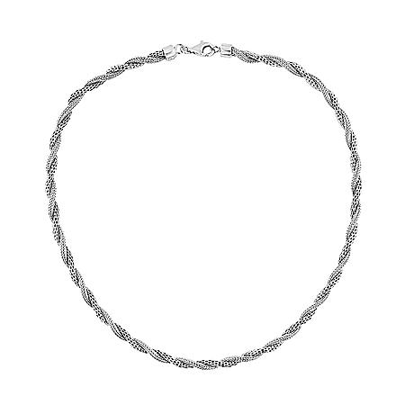 Sterling Silver Double Mesh Necklace