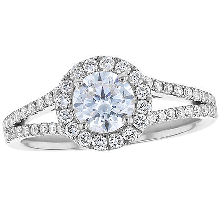 S Collection Bridal 1.30 CT. T.W. Diamond Halo Ring in 14K Gold (SI, H-I)