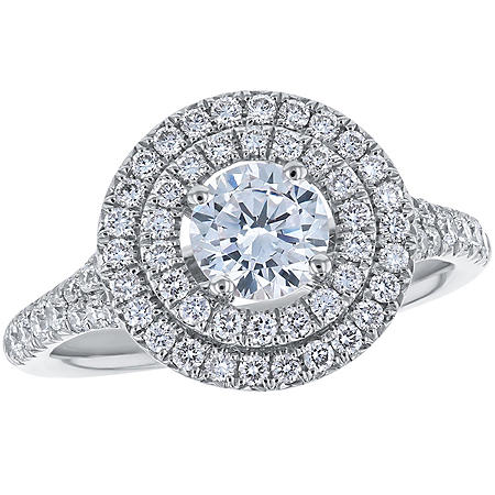 S Collection Bridal 1.40 CT. T.W. Double Halo Diamond Ring in 14K Gold (SI, H-I)