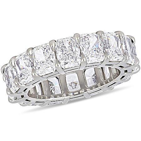 Elegance by Allura 11.25 CT. T.W. Radiant-Cut Diamond Eternity Anniversary Ring in 18k White Gold