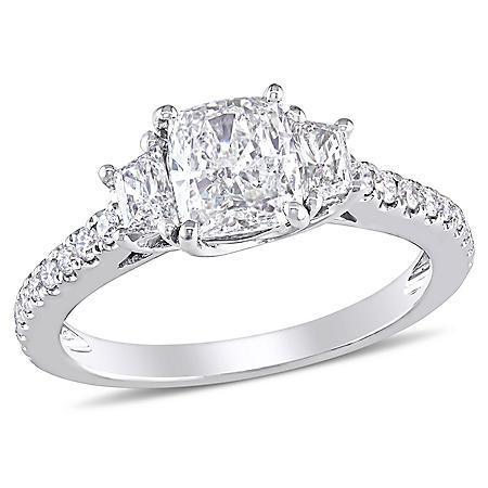 Elegance by Allura 1.4 CT. T.W. Multi-Cut Diamond Engagement Ring in 14k White Gold