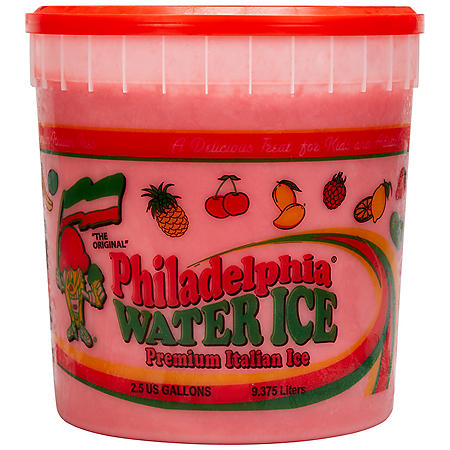 Philadelphia Water Ice Cherry Flavored Premium Italian Ice (2.5 gallon tub)