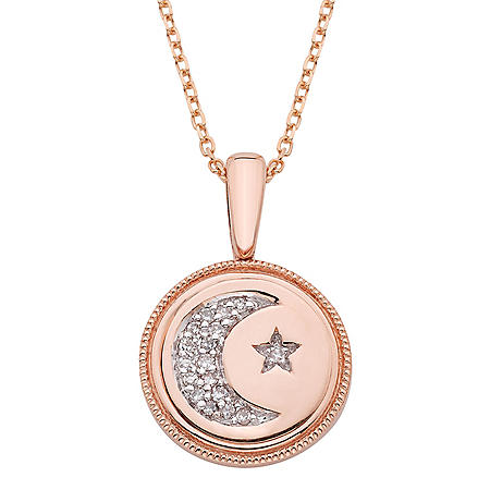 Diamond Constellation Charm Necklace in 14K Gold (I, I1)