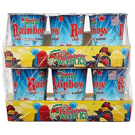 Philadelphia Water Ice Cups, Rainbow (8 fl. oz. ea., 12 ct.)
