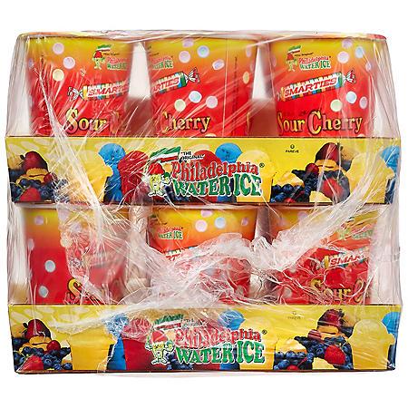 Philadelphia Water Ice Cups, Sour Cherry (8 fl. oz. ea., 12 ct.)