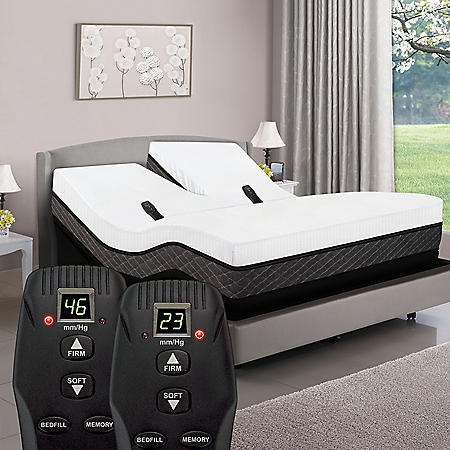 American Sleep Collection Queen Dual Head Smart Bed with Adjustable Dual Air and Power Base