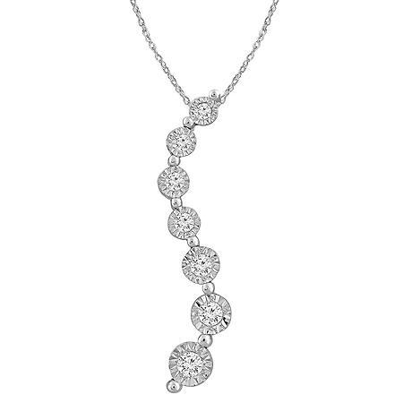 0.18 CT. T.W. Diamond Pendant 14k White Gold