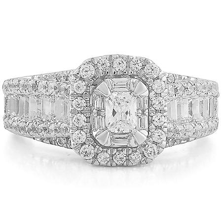 1.45 CT. T.W. Diamond Ring in 14k White Gold