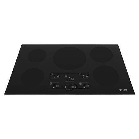 "Thor Kitchen 36"" Glass Induction Cooktop in Black with 5 Elements (CHOOSE: Color)"