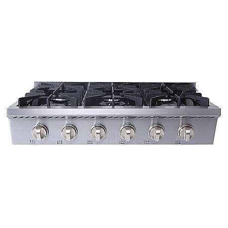"Thor Kitchen 36"" Gas Rangetop in Stainless Steel with 6 burners"