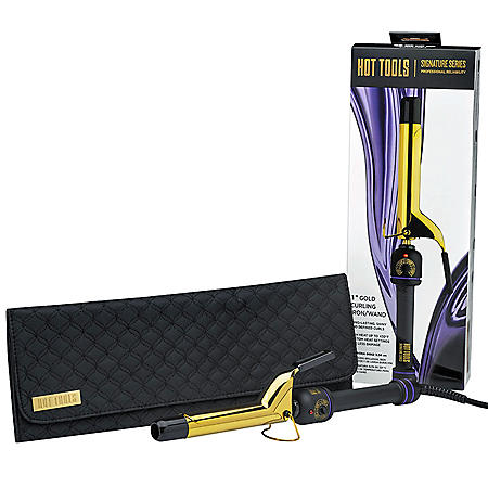 "Hot Tools Signature Series Gold 1"" Curling Iron With Storage Case Kit"