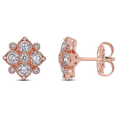 Allura 1 CT. T.W. Diamond Stud Earrings in 14k Rose Gold