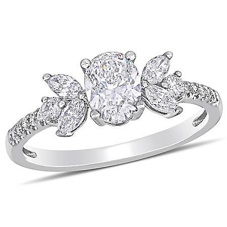 Allura 1.14 CT. T.W. Diamond Engagement Ring in 14k White Gold