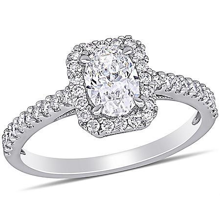 Allura 1 CT. T.W. Diamond Halo Engagement Ring in 14k White Gold