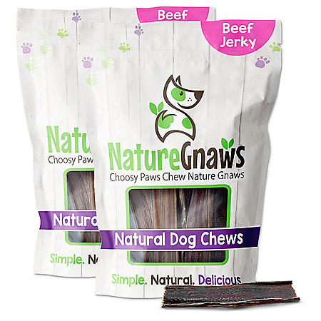 """Nature Gnaws Beef Jerky Chews, 4-5"""" Length (40 ct.)"""