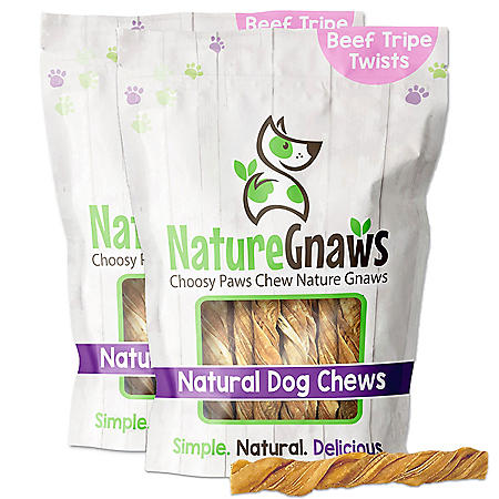 "Nature Gnaws Tripe Dog Chews, 4-5"" Length (20 ct.)"