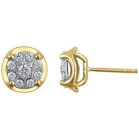 0.46 CT. T.W. Diamond Stud Earrings in 14K Two-Tone Gold