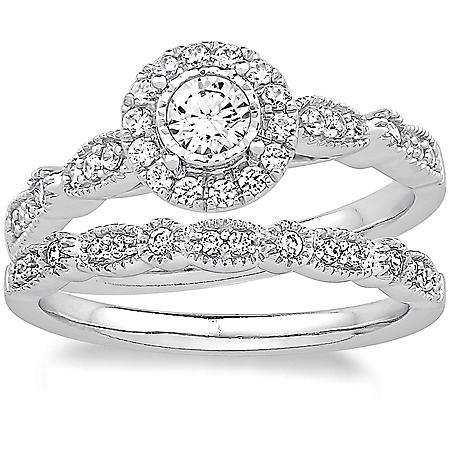 0.50 CT. T.W. Diamond Bridal Set in 14K White Gold