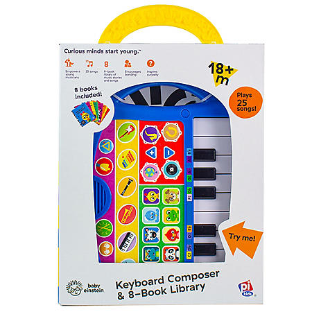 Baby Einstein - My First Music Fun Keyboard Composer & 8 Book Library