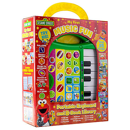 Sesame Street: Portable Keyboard and 8-Book Library