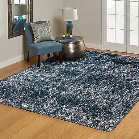 "Laura Ashley Prado Shag Collection, 94"" x 120"" (Assorted Colors)"