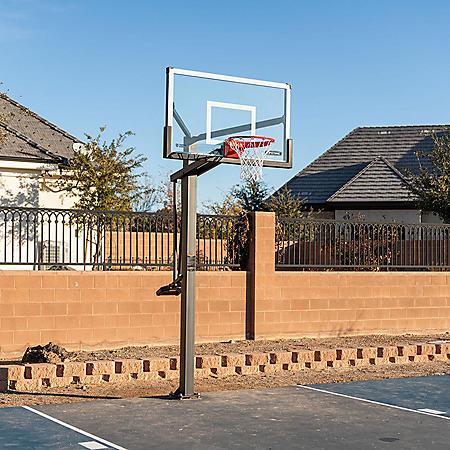 Lifetime Mammoth Bolt Down Basketball Hoop (60-Inch Tempered Glass)