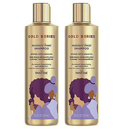 Pantene Gold Series Moisture Boost Shampoo, 9.1 fl., oz. 2pk.)