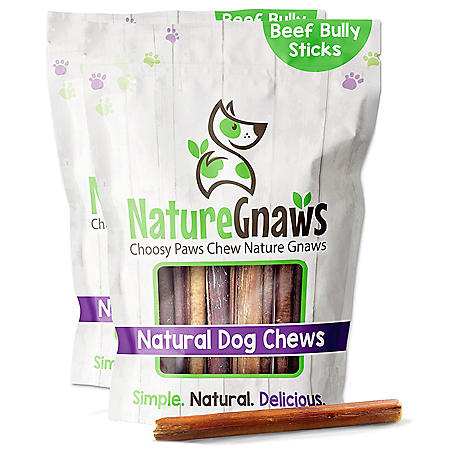 Nature Gnaws Beef Bully Sticks Bundle (20 ct.)