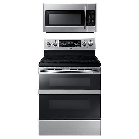 Samsung Cooking Bundle with 5.9 cu. ft. Flex Duo™ Range in Stainless Steel