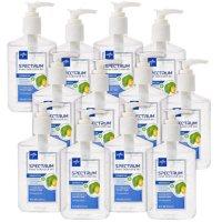 12CT Medline Spectrum Advanced Hand Sanitizer Gel Bottles 8oz Deals