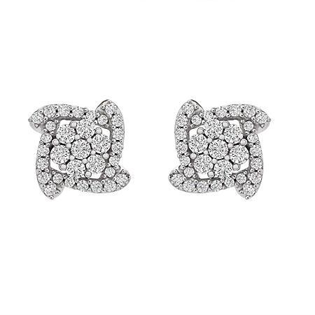 0.25 CT. T.W. Diamond Earrings in 14K White Gold