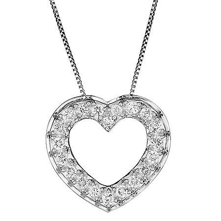 0.46 CT. T.W. Diamond Heart Pendant in 14K Gold
