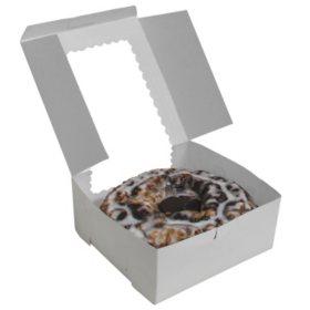 "Cake Box with Window, White (10"" x 10"" x 4"", 12 pk.)"