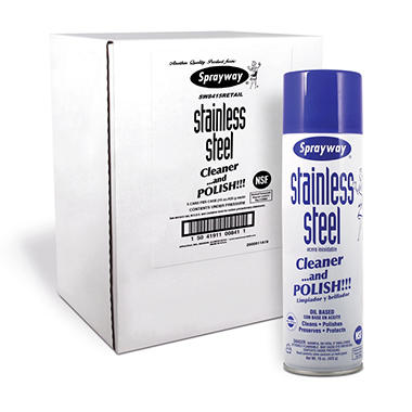Sprayway Stainless Steel Cleaner and Polisher (15oz., 5pk.)