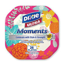 "Dixie Ultra Moments 8"" Paper Plates (3pk. 26ct.)"
