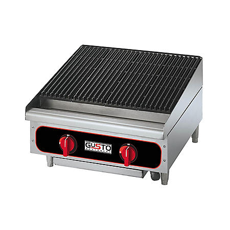 Gusto Natural Gas Radiant Charbroiler (Various Sizes)