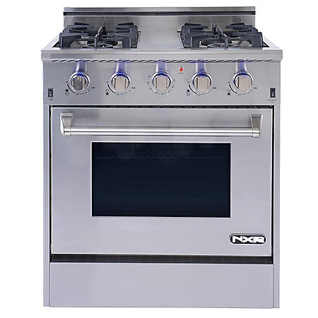 "NXR Elite Stainless-Steel 30"" Gas Range with Convection Oven"