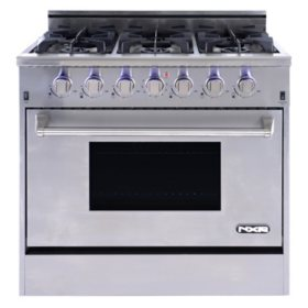 "NXR Elite Stainless-Steel 36"" Gas Range with Convection Oven"