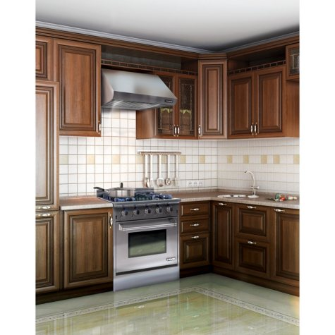 "The NXR Elite Stainess Steel 30"" Gas Range and Range Hood Bundle"