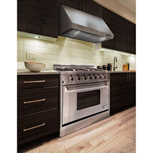 "The NXR Elite Stainess Steel 36"" Gas Range and Range Hood Bundle"
