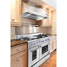 "The NXR Elite Stainless Steel 48"" Gas Range and Range Hood Bundle"