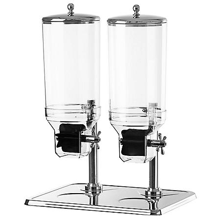 Chef's Supreme Stainless Steel Cereal Dispenser, Dual Bowl