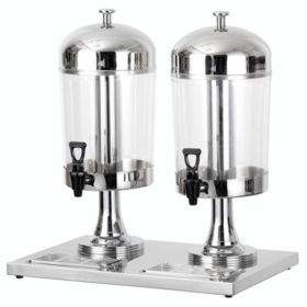 Chef's Supreme Stainless Steel Juice Dispenser, Dual Bowl